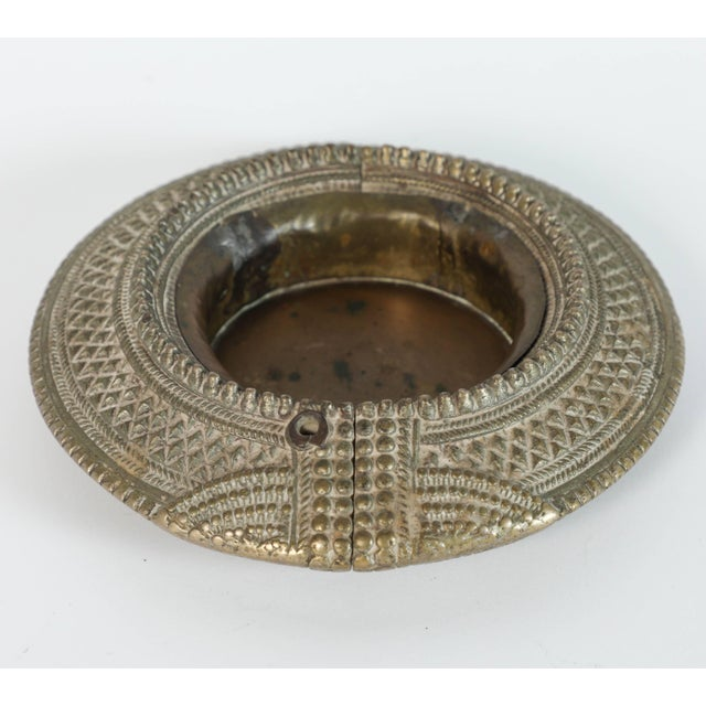 Early 20th Century Set of Four Ethnic Silvered Traditional Ankle Bracelets From India For Sale - Image 5 of 9