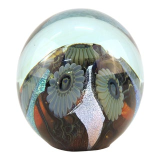 Art Glass paperweight Signed Eichholt For Sale