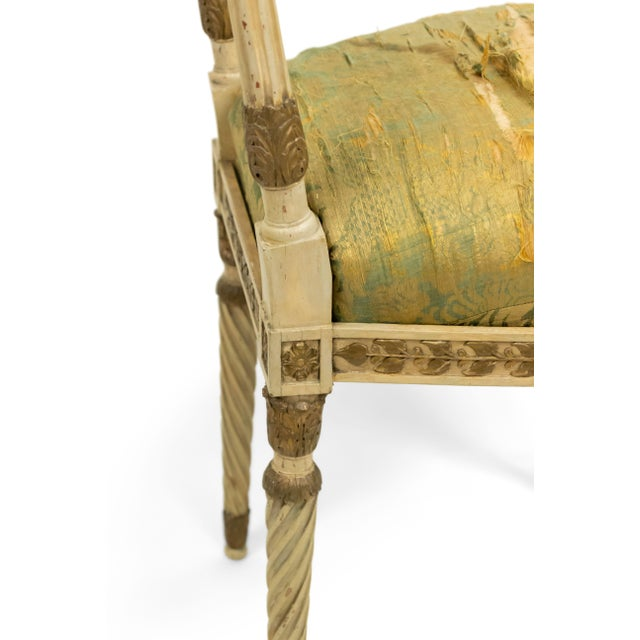 Italian Neoclassic Silk Upholstery Chairs For Sale - Image 9 of 11
