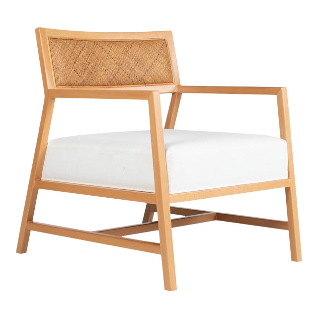 David Francis Furniture Metro Lounge Chair, Natural For Sale