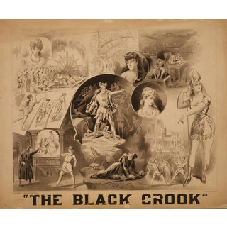 """Reproduction 1800s """"The Black Crook"""" Musical Production Print For Sale"""