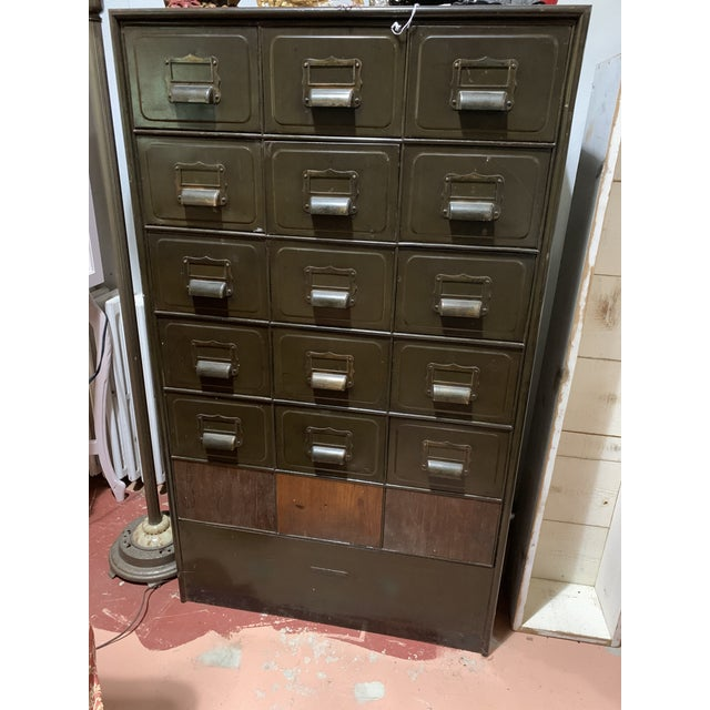 Industrial Metal File Cabinet For Sale - Image 4 of 4