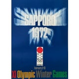 Image of Original Vintage 1972 Sapporo Olympic Poster, Logo For Sale