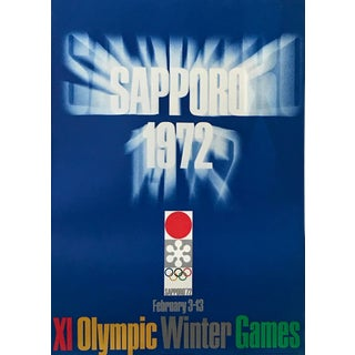 Original Vintage 1972 Sapporo Olympic Poster, Logo For Sale