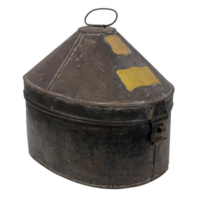British Army Edwardian Hat Case For Sale