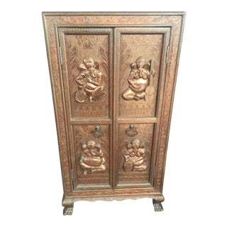 Ganesh Copper Clad Cabinet From India Elephant For Sale