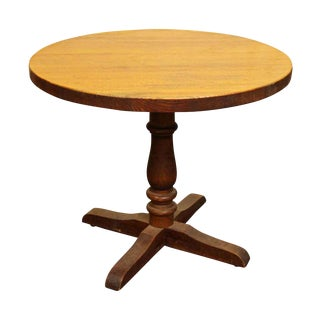 Round Oak Center Table For Sale