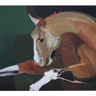 Abstract Expressionist Buckskin Horse by Marie Sarni For Sale