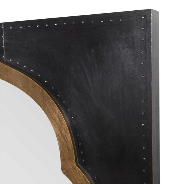 Moroccan Moroccan Stained Copper and Brass Clad Mirror For Sale - Image 3 of 6