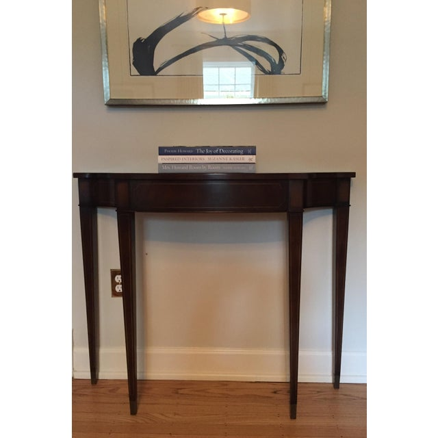 Vintage Demi Lune Console Table - Image 7 of 8