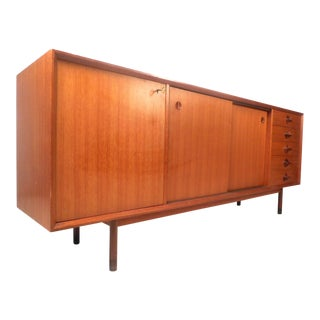 Gorgeous Midcentury Italian Teak Credenza For Sale