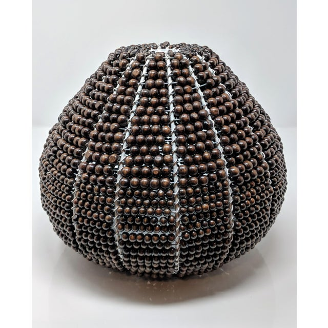 Tribal Fair Trade Beaded Vase For Sale - Image 12 of 13
