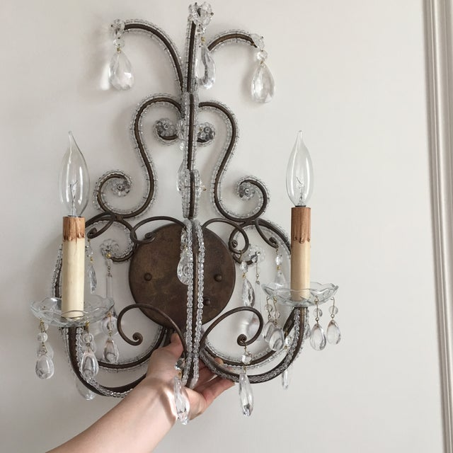 Mid-Century Sconces - A Pair - Image 4 of 4