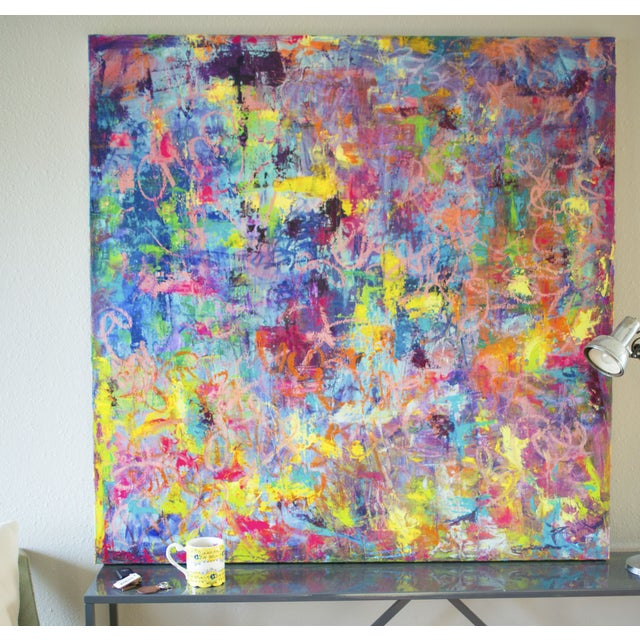 "Spring Vibes Painting - 48"" x 48"" - Image 3 of 3"