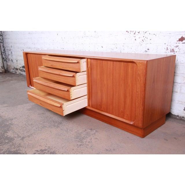 Bernhard Pedersen & Son Danish Modern Teak Tambour Door Sideboard Credenza For Sale - Image 10 of 13