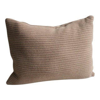"Cashmere Cocoa Brown Patchwork Throw Pillow - 16"" X 12"""