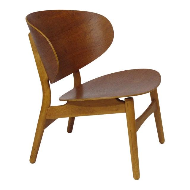 Hans Wegner Teak Shell Chair Fh-1936 For Sale