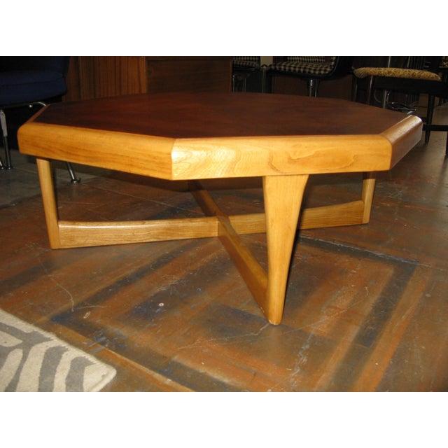 Mid-Century Modern Lane Hexagonal Coffee Table For Sale - Image 3 of 10