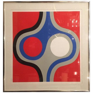 """""""Signals"""" Lithograph by S. Perea #64/300 For Sale"""