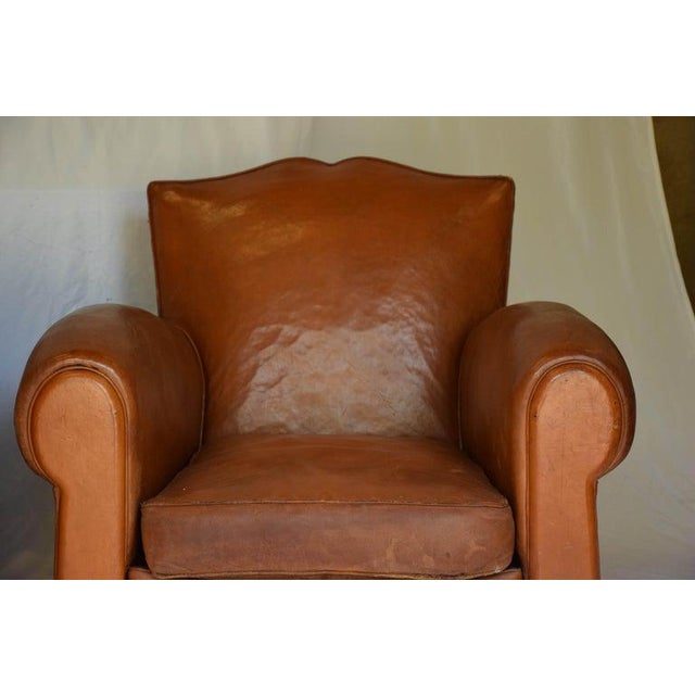 French 1930s Leather Moustache Leather Club Chairs - a Pair For Sale - Image 3 of 13