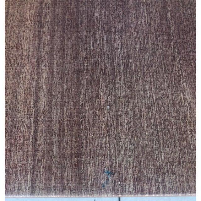 1970s Linen Covered & Brass Details Desk For Sale - Image 5 of 8