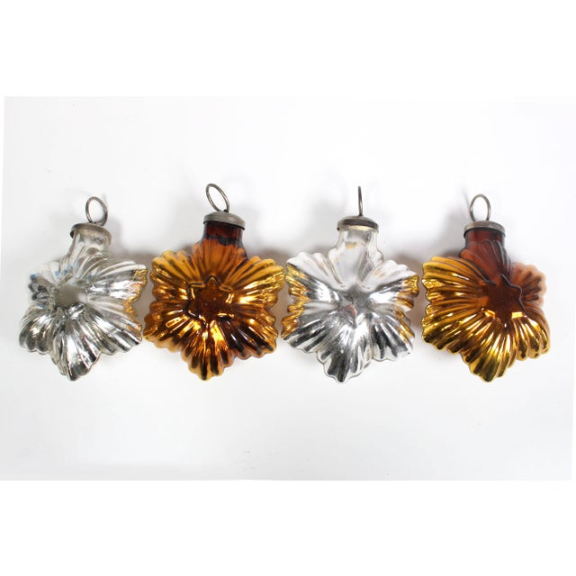 """Featured are 10 unique vintage Christmas ornaments from the 1960's. Four are heavy duty glass stars approximately 4""""-5"""" in..."""