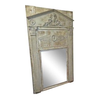 Large 19c French Neoclassical Revival Trumeau Mirror For Sale