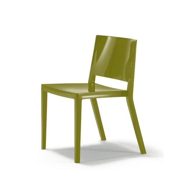 Authentic Green Kartell Lizz Chairs - Pair - Image 4 of 4