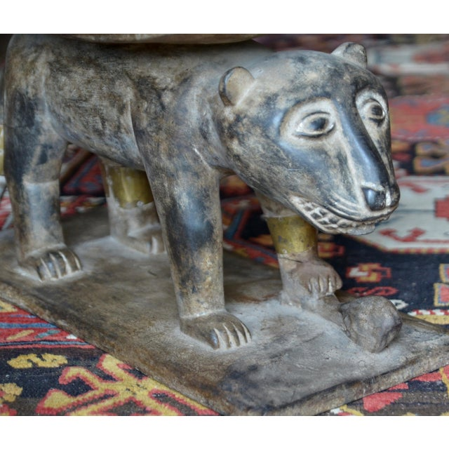 African Ashanti Leopard Stool For Sale - Image 9 of 10