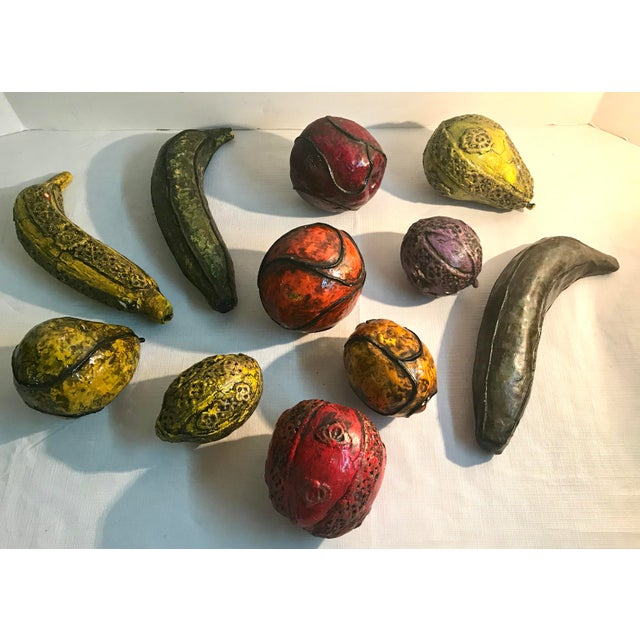 Figurative 20th Century Figurative Paper Mache Fruit Models - Set of 11 For Sale - Image 3 of 5