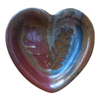 Blaisdell Pottery Ceramic Heart Bowl Dish For Sale