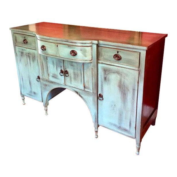 Vintage Solid Wood Buffet Sideboard Server - Image 1 of 9