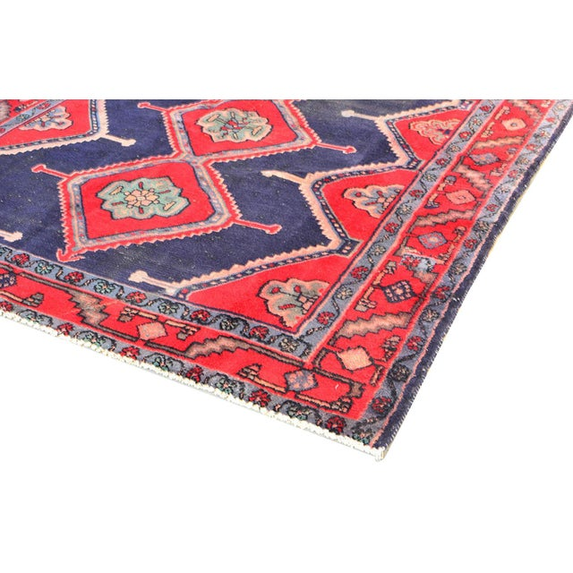 "Vintage Hamadan Wool Area Rug - 4'9"" X 8'9"" - Image 3 of 3"