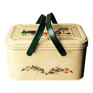 Decorative Vintage Tin Breadbox