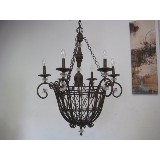 Oil Rubbed Bronze Candle Style Chandelier - Image 5 of 8