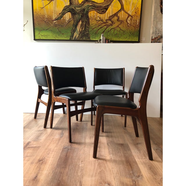 1960s Vintage Rosewood Dining Chairs by Erik Buch (Model 89) - Set of 4 For Sale - Image 13 of 13