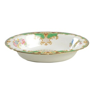 Shelley Sheraton Green Oval Serving Bowl For Sale