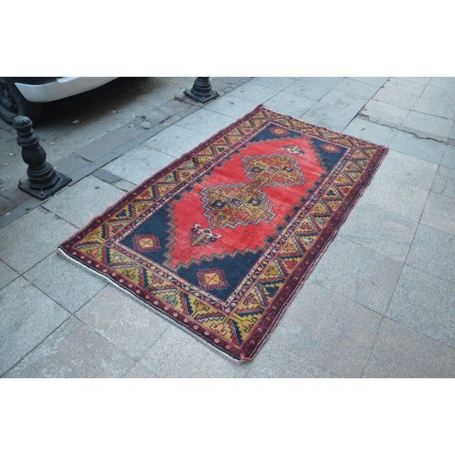 Turkish Handmade Anatolian Carpet - 4′ × 7′1″ - Image 3 of 6