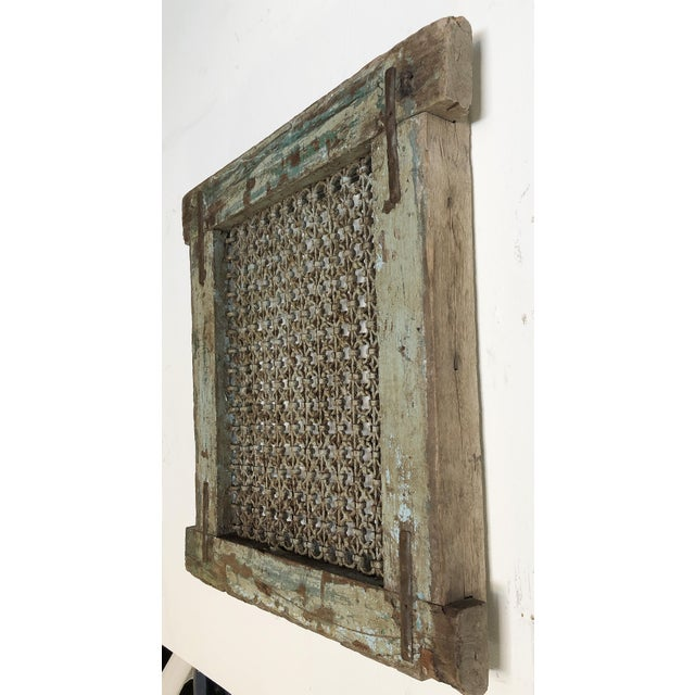 Antique ventilation grills from India make for perfect wall art. These are truly antique pieces and are one of a kind...