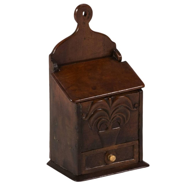 Late 18th Century English Fruitwood Spice Box For Sale