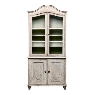19th Century Swedish Gustavian Painted Pine Cupboard For Sale