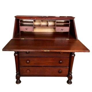 Antique Chippendale Sheraton Federal Walnut Drop Front Secretary Desk Preview