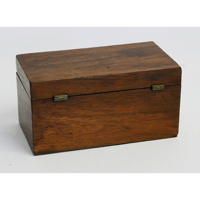Antique English Tea Caddy For Sale - Image 4 of 5