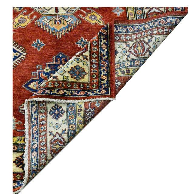 Afghan Afghan Kazak Wool Rug - 4'x6'2'' For Sale - Image 3 of 4