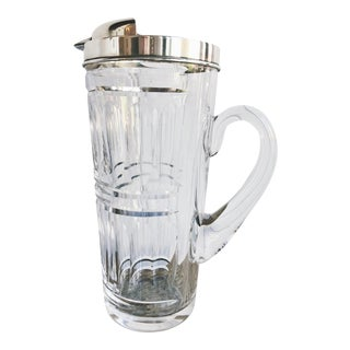 Vintage Tiffany & Co Sterling and Crystal Cocktail Pitcher For Sale