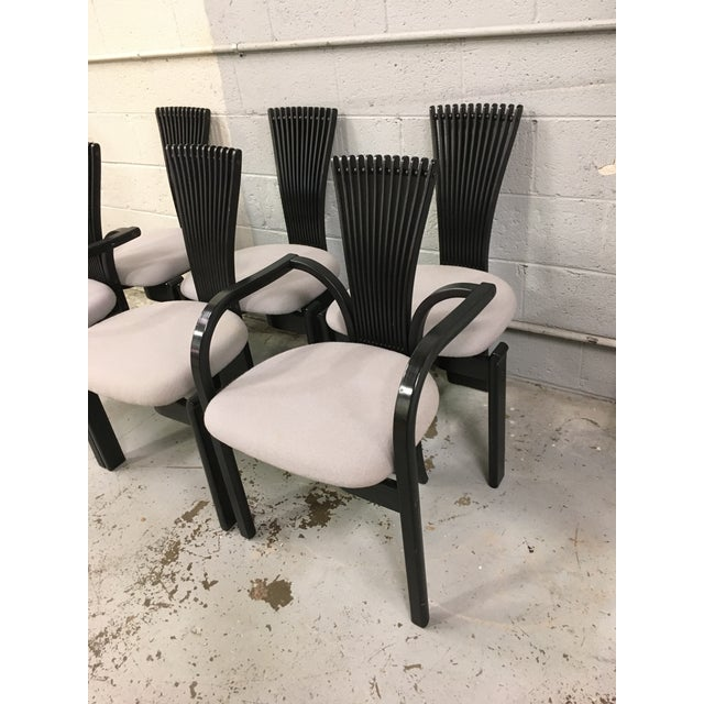 Postmodern Totem Chairs by Torstein Nilsen for Westnofa - Set of 6 For Sale - Image 3 of 5