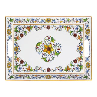 Large Two-Handled Melamine Serving Tray - Capri For Sale