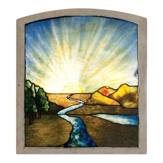 1920's Vintage Stained Glass Window For Sale