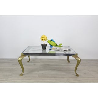 Mid-Century Modern Pace Chrome and Brass Coffee Table Preview
