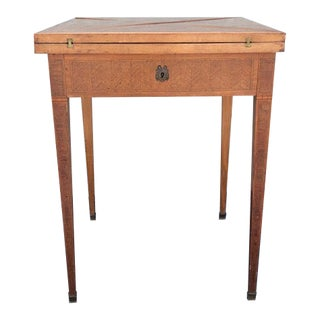 1900s Italian Inlaid Marquetry Game Table For Sale